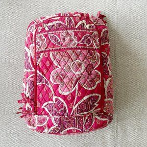 Vera Bradley Pink Quilted Campus Laptop Backpack